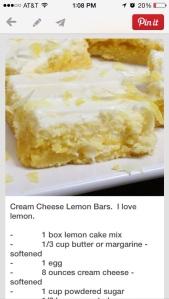 And lemon bars for dessert!!